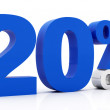20 Percent off - Stock Photo