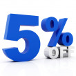 5 Percent off - Stock Photo