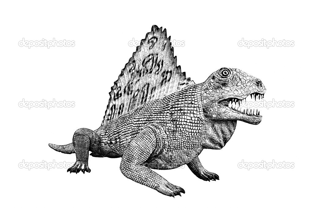 Dinosaur isolated on white background — Stock Photo #13358068