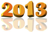 New Year 2013 and reflects to the 2012, 3D model — Stock Photo