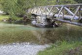 The bridge and the river — Foto de Stock