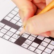 Crossword puzzle close-up — Stock Photo #12567382