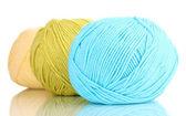 Knitting yarn isolated on white — Stock Photo