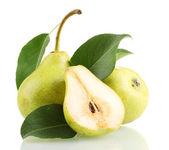 Juicy flavorful pears isolated on white — Stock Photo