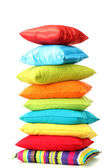 Colorful pillows isolated on white — Stock Photo