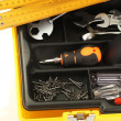 Tool box with tools close-up — Photo