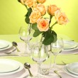 Elegant holiday table setting — Stock Photo