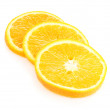 Stock Photo: Oranges close up isolated on white