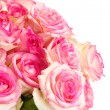 Royalty-Free Stock Photo: Beautiful bouquet of pink roses isolated on white