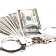 Concept of punishment for financial fraud — Stock Photo #12576638
