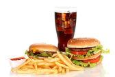 Szybkie jedzenie na białym tle — Zdjęcie stockowe