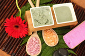 Cosmetic clay for spa treatments close-up — Stock Photo