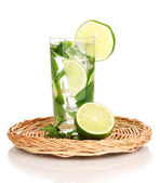 Mojito on the board isolated on white — Stock Photo