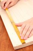 измерения макро деревянная доска — Стоковое фото