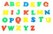 Alfabeto, aislado en blanco — Foto de Stock