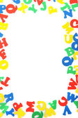 Letras inglesas, aisladas en blanco — Foto de Stock