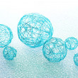 Stock Photo: Beautiful decorative balls, on blue background