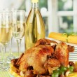 Table setting for Thanksgiving day close-up - Stock Photo