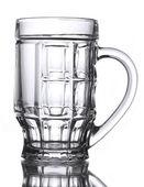пустой пивной стакан, изолированные на белом — Стоковое фото