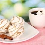 Air marshmallows on nature background — Stock Photo #12712025