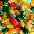 Colorful capsules and pills, close up — Stock Photo #12715195
