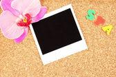 Placa de cortiça com notas comemorativas — Foto Stock
