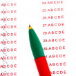 Answers to test questions close-up - Stockfoto