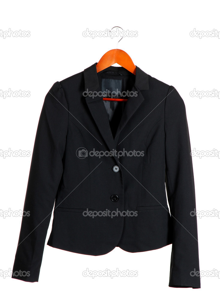 Women's black classic jacket — Stock Photo #12749883