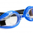 Stock Photo: Blue swim goggles isolated on white