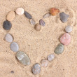 Love-stones on sand — Foto de Stock
