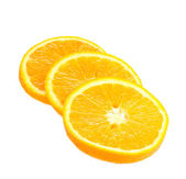 Oranges close up isolated on white — Stock Photo