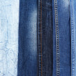 Many jeans closeup — Stock Photo