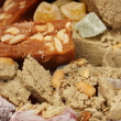 Oriental sweets - sherbet, halva and turkish delight close-up - Photo