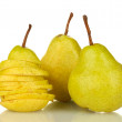 Ripe pears isolated on white — Stock Photo #12889004