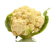 Fresh cauliflower isolated on white — Stock Photo