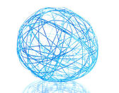 Beautiful decorative ball, isolated on white — Stock Photo