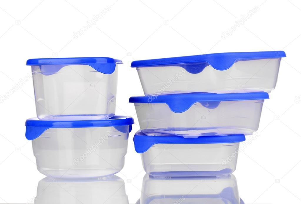Plastic containers for food isolated on white — Stock Photo #12888929