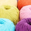 Knitting yarn isolated on white - 