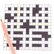 Crossword puzzle close-up — Stock Photo #13196811