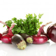 Stock Photo: Purple vegetables isolated on white