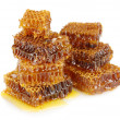 Sweet honeycombs with honey, isolated on white - Lizenzfreies Foto