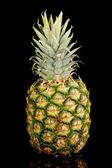 Pineapple isolated on black — Stock Photo