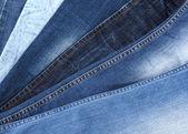 Many jeans closeup — Stock Photo
