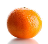 Ripe tangerine isolated on white — Foto de Stock