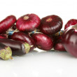 Purple vegetables isolated on white — Stock Photo
