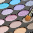 Shadow kit with brush for make-up — Stock Photo #13209656