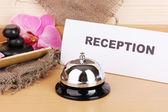 Hotel reception isolated on white — Stock Photo