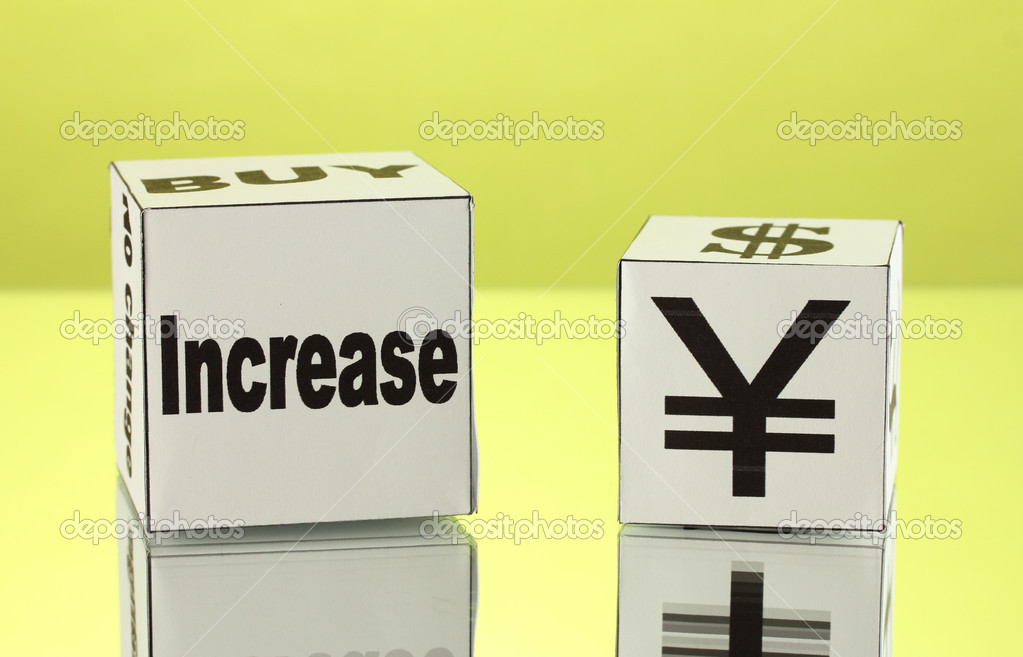 Forex. currency in the white dices on green background — Stock Photo #13211278