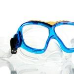 Blue swim goggles isolated on white — Stock Photo #13322613
