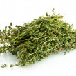 Stock Photo: Fresh green thyme isolated on white